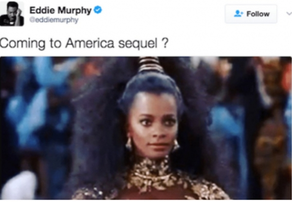 "TMZ interviews Vanessa Bell Calloway about Eddie Murphy's ""Coming to America"" Sequel tweet!"