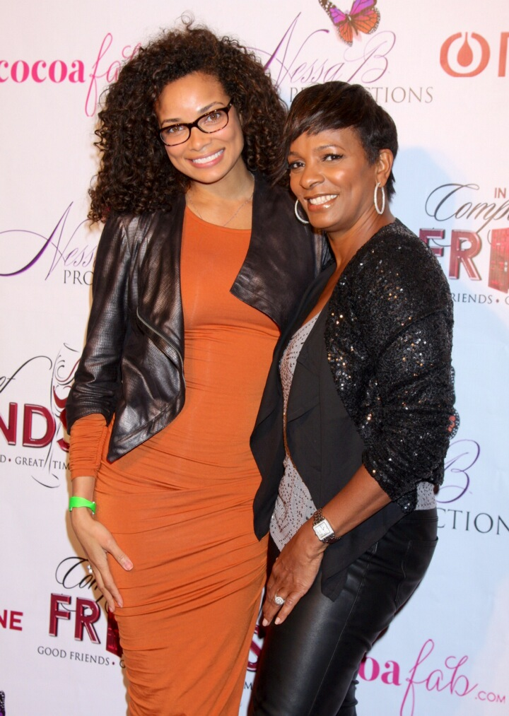 Rochelle Aytes of VH1's Crazy Sexy Cool and ABC's Mistresses On The Red Carpet With Vanessa Bell Calloway