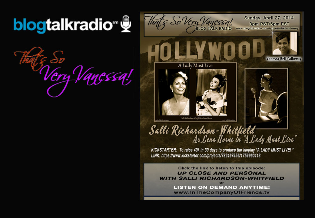 "TSVV: Salli Richardson-Whitfield as Lena Horne in ""A Lady Must Live!"""